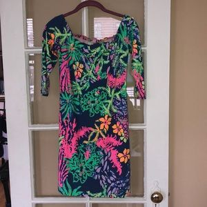 Lilly Pulitzer's Off The Shoulder Laurana Dress